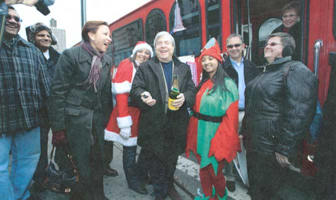 Christmas Trolley, Congresswoman, Borough President